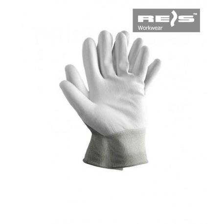 Rękawice ochronne powlekane poliuretanem białe RTEPO