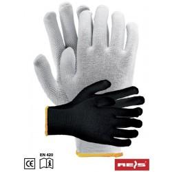 Rękawice ochronne RMICROLUX bawełniane nakrapiane PCV