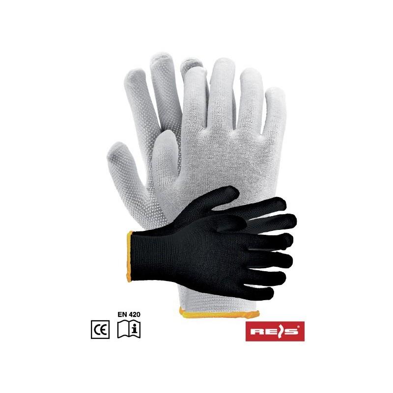 75d6221b3e2040 Rękawice ochronne RMICROLUX bawełniane nakrapiane PCV